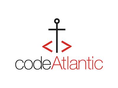 CodeAtlantic workshops vector anchor coding code prince edward island maritimes east coast atlantic logo