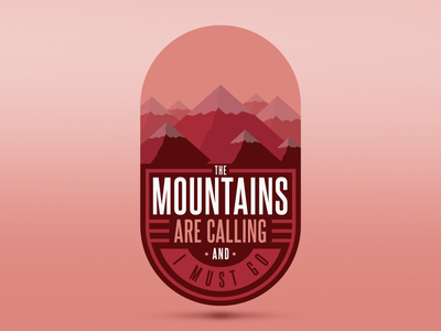 Mountains are calling icon badge patch logo canada whistler bc snow winter snowboarding calling mountains