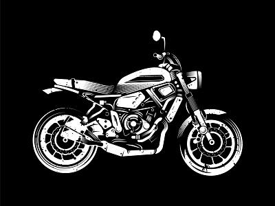 MOTO black and white motorbike yamaha bikers bikes vector illustration illustrator motosport motorcycle moto bike