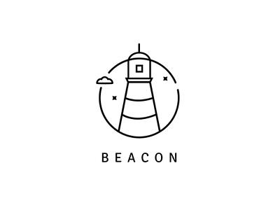 Lighthouse logo - Beacon vector modern logo minimalist logo logo design logo challenge logo illustrator illustration flat design dailylogochallenge branding