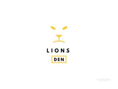 Lions Den vector type symbol park logo lions minimal mark logo design logo illustration icon flat design daily logo challenge daily logo branding identity branding design branding concept branding