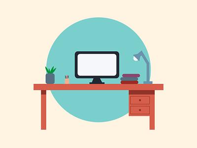 Desk Illustration vector illustration artoftheday digitalart vectorart design adobe creative logo desk illustration draw sketch adobe illustrator graphic graphicdesign illustration illustrator vector