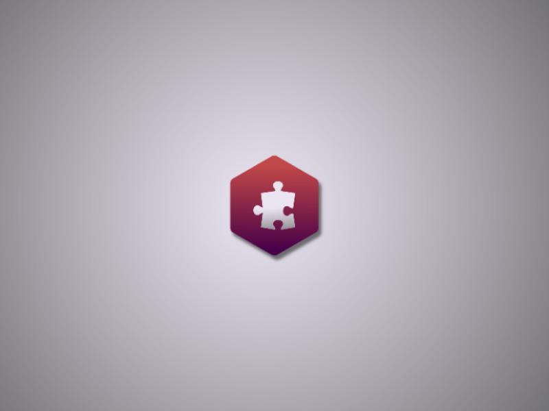 Puzzle logo vector minimal logo design logo challenge illustrator illustration flat daily logo branding adobe
