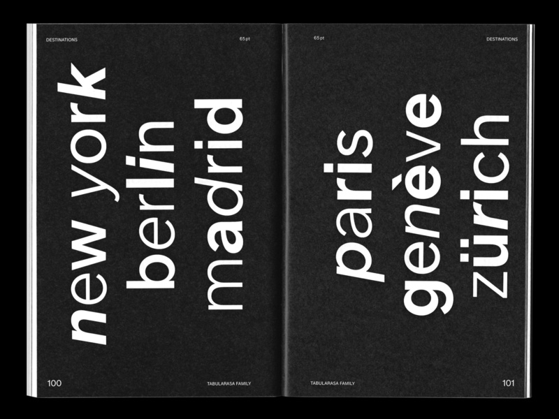 Tabularasa Type Specimen vector editorial design minimalist typography sans serif grotesk font branding typedesign