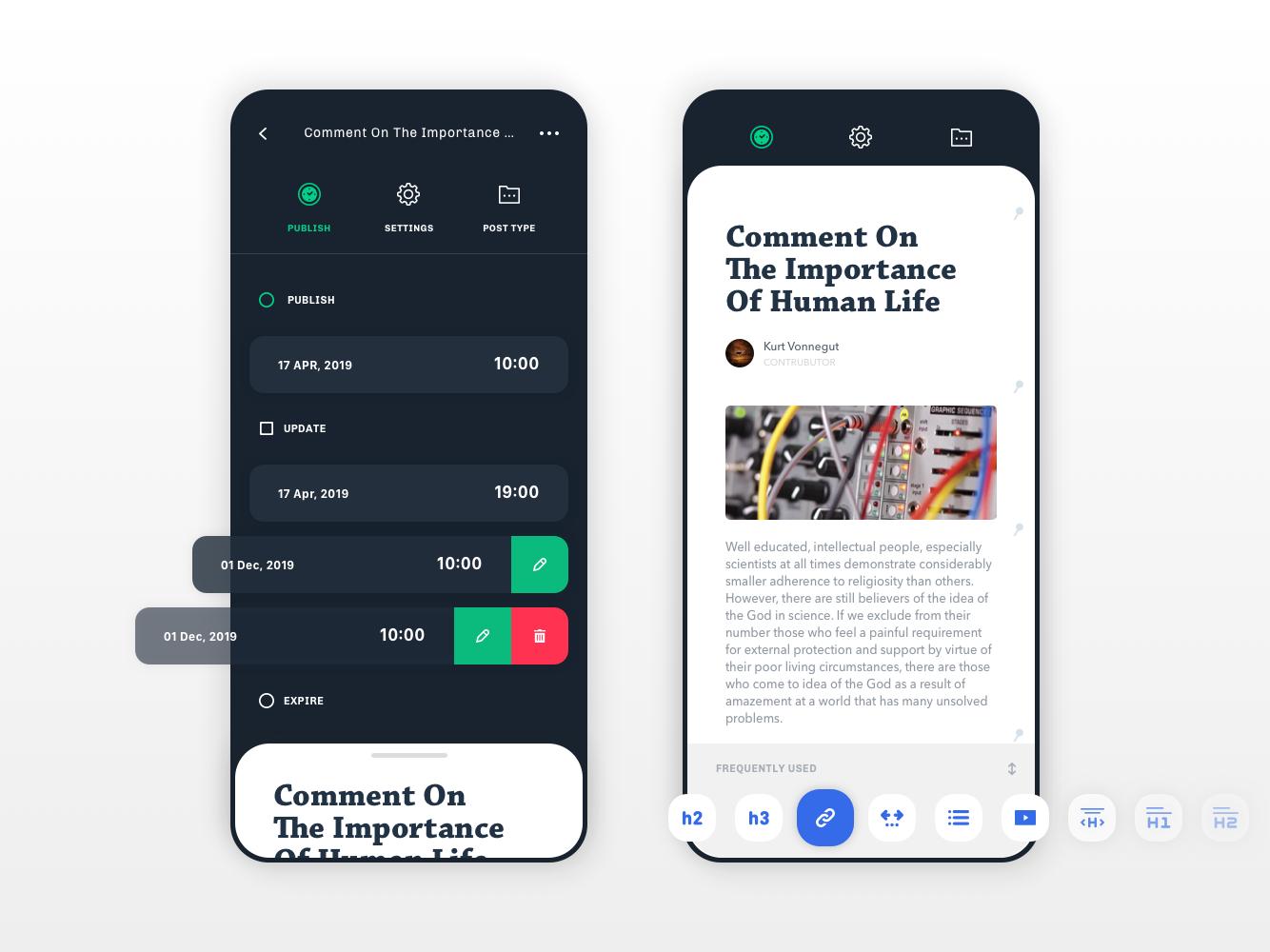 Concept UI Vol.02 Live editor for mobile devices saas design saas app translations uiinspirations mobile app design mobile app mobile ui web ux ui design app