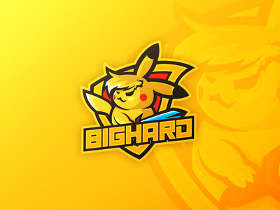 PIKACHU MASCOT LOGO art icon illustration design minecraft esportlogo gaming esport vector logo mascot logo mascotlogo mascot