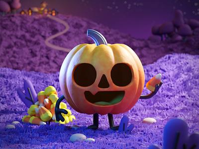 Happy Halloween! design character art art 3d art cute 3d digital illustration blender