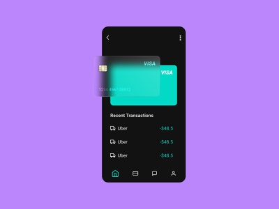 App UI Design With Glass Morphism android app iphone app mobile app uber app payment app payment visa card app design ui morphism glass morphism