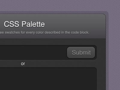 CSS Palette form ui gui button submit border design website web