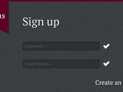 Chartus sign up chartus web sign up form validation