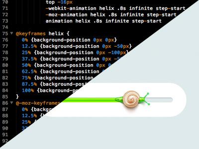 Helix Rebound css3 animation progress html css rebound