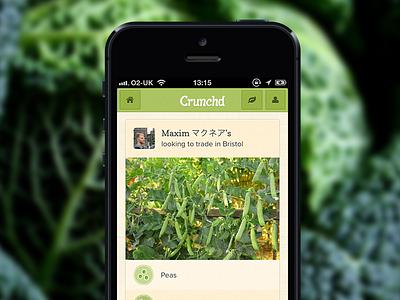 Crunchd Trade crunchd ios css app food grow plant phonegap