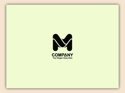 M word Latter Logo Design illustrator art icon flat design vector logo graphic design creative branding