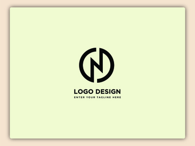 N Word Logo Design art icon typography illustrator graphic design design branding vector creative