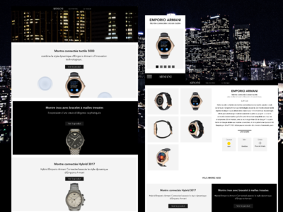 redesign watch Armani