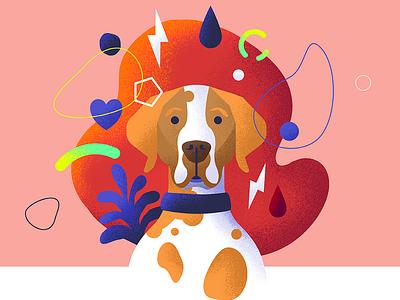 assistance dog 1 dog design illustration