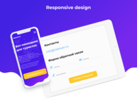 Landing Page design for chatbot