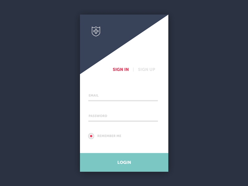 Sign In ux smartphone mobile ui flat sign up login sign in