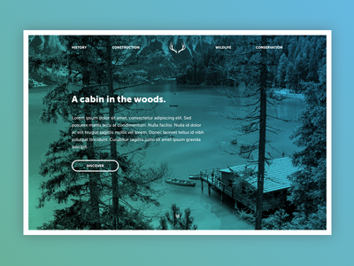 Landing page forest woods blue green nature gradient landing page