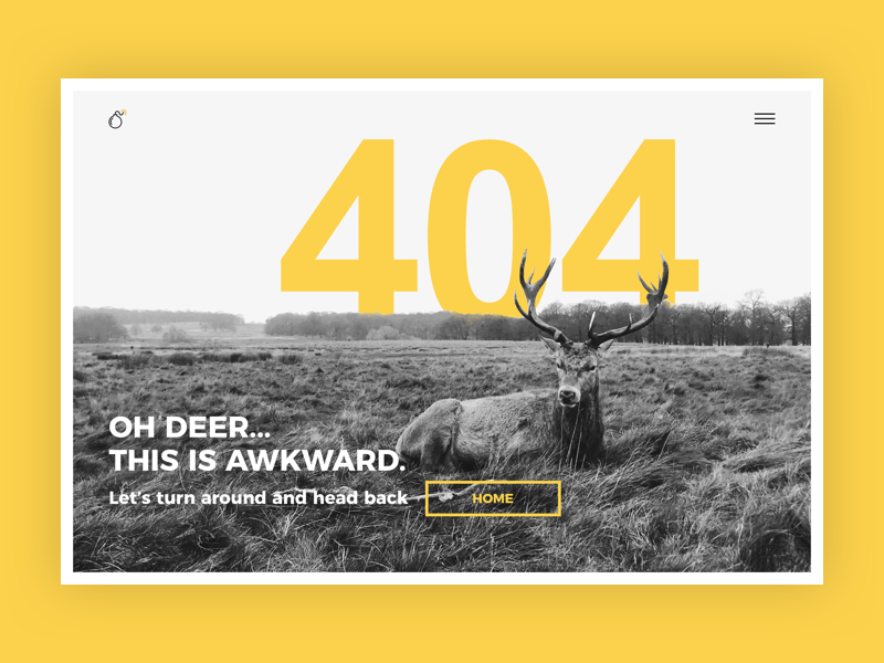 404 error yellow not found 404 daily ui