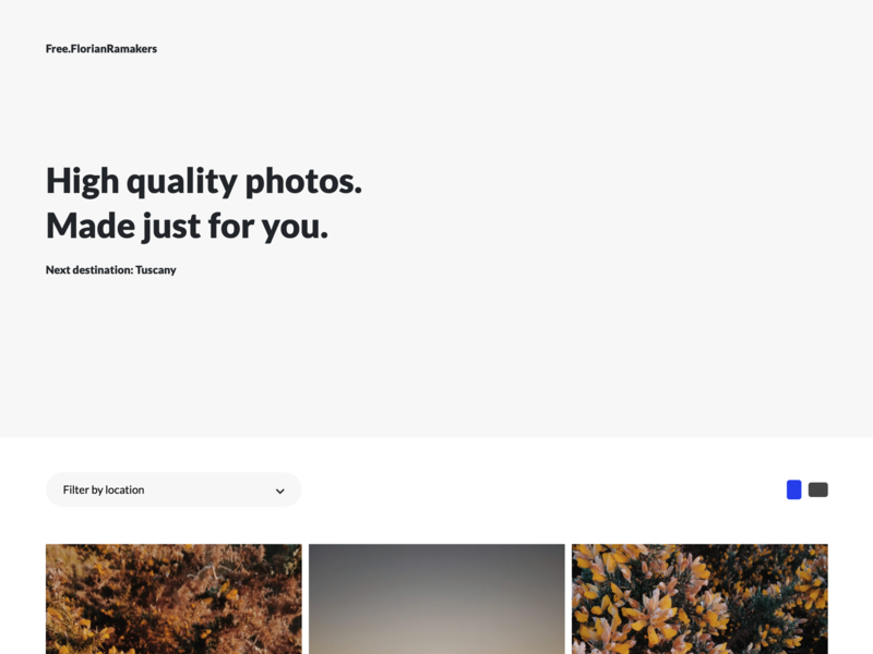 Free.FlorianRamakers typography monochrome photos photography website design freebies modern clean ui
