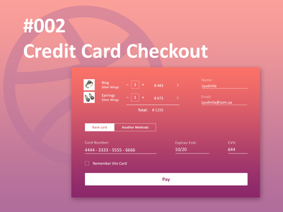 Credit Card Checkout credit card checkout shots 002 dailyui 002