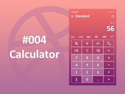 Daily UI #004 - Calculator calculator shots 004 dailyui 004