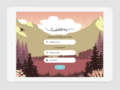 Log in | Kids App lettering illustrator mobile ios app vector logo website ux ui kidsapp kids illustration game app game education app education design animation