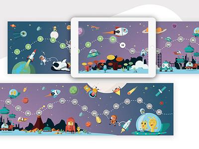 Menu - Kids App menu ios illustrator app website ux ui kidsapp kids illustration game app game education app education design animation