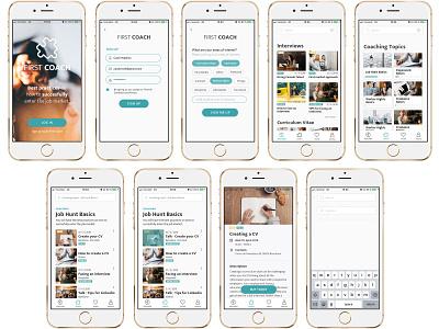 Firstcoach · Ux/Ui Design Case Study design app learn case design case study visual design ux designer ux-ui ui design app