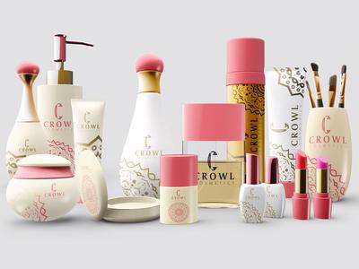 CROWL cosmetics mockup