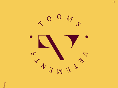 TOOMS VETEMENTS fashion branding monogram thedesigntalks logoinspirations graphicdesign branddesign brandstylist logoinspire logomaker visualidentity typography logodesigns logodesigner identitydesign