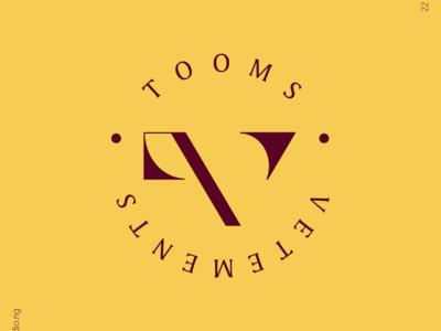 TOOMS VETEMENTS fashion branding monogram thedesigntalks logoinspirations graphicdesign branddesign brandstylist logoinspire logomaker visualidentity typography logodesigns logodesigner identitydesign