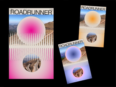 Roadrunner roadtrip color design maggiewitherow poster a day poster design poster
