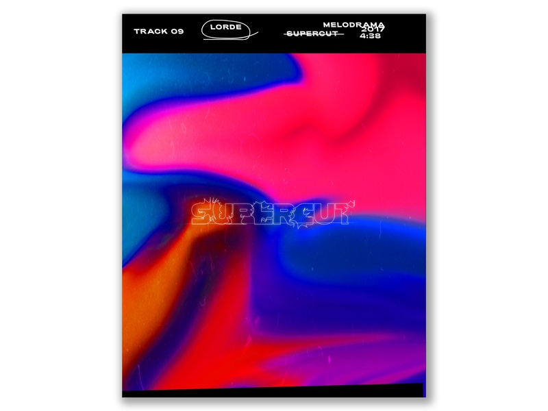 Supercut-Lorde gradient maggiewitherow lorde poster song poster