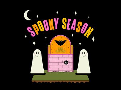 Spooky Season ghost maggiewitherow halloween design spooky halloween vector design illustrator illustration