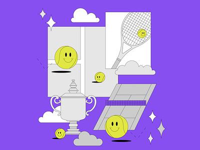US Open maggiewitherow design illustrator illustration tennis usopen