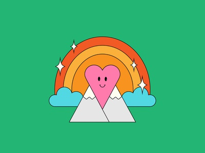 love the mountains mountains heart vector illustrator illustration maggiewitherow