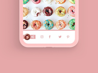 Daily UI Challenge 010 - Social Share donuts socialshare day010 daily ui design ui dailyui daily challenge app