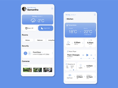 Daily Ui Challenge 021 - Home Monitoring home app home automation automation mobile home monitoring dashboard home monitoring home design daily ui ui dailyui daily challenge app