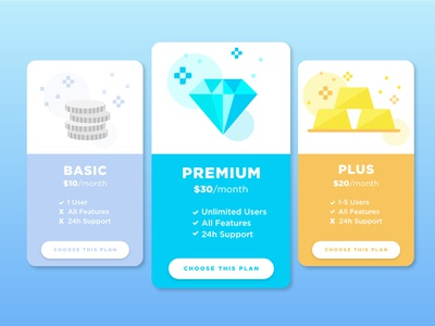 Daily Ui Challenge 030 - Pricing pricing design daily ui ui dailyui daily challenge app