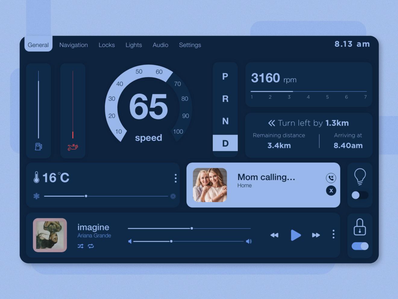 Daily UI Challenge 034 - Car Interface car app car interface car design ui dailyui daily challenge app