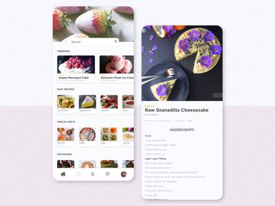 Daily UI Challenge #040 - Recipe food recipe app recipe mobile design ui dailyui daily challenge app