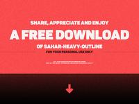 Sahar-Heavy Sans (early bird price) + free logo