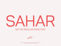 Sahar-Regular Sans (early bird price) + Free Valentine's Gift