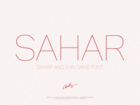 Sahar-Thin (early bird price)