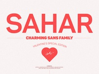 Sahar Sans Font Family ($3 Valentine's special)