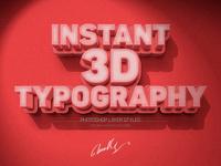 Instant 3D Text Effect