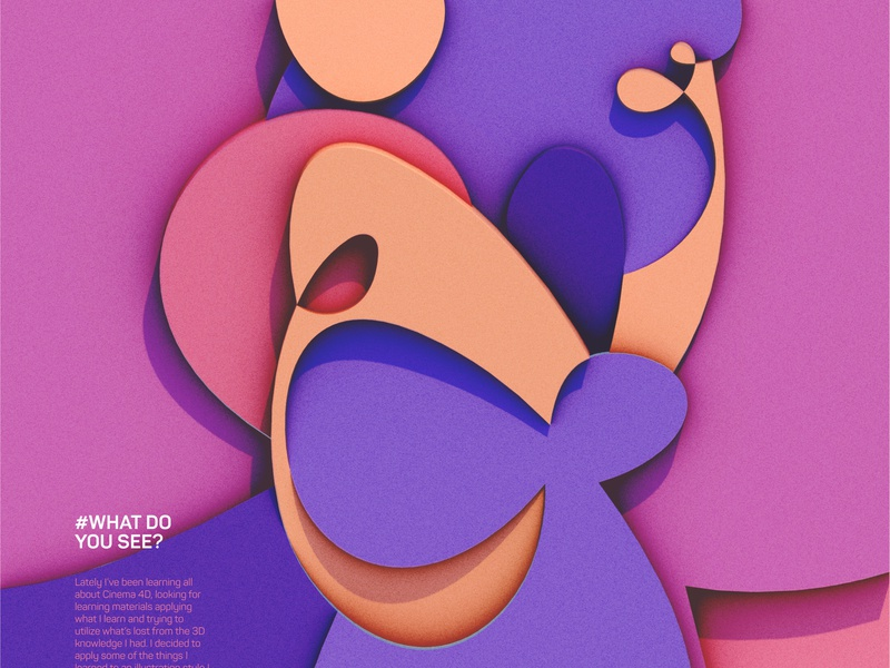 What Do You See? art mokhatib illustration cinema4d graphic design