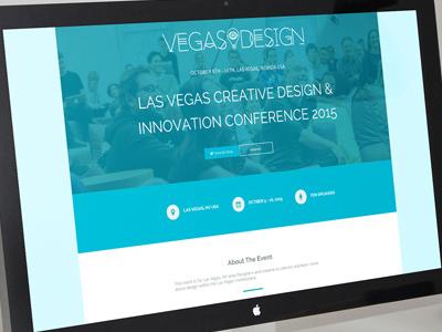 Vegas Design Conference Website Email & Ads social media advertisements email website conference
